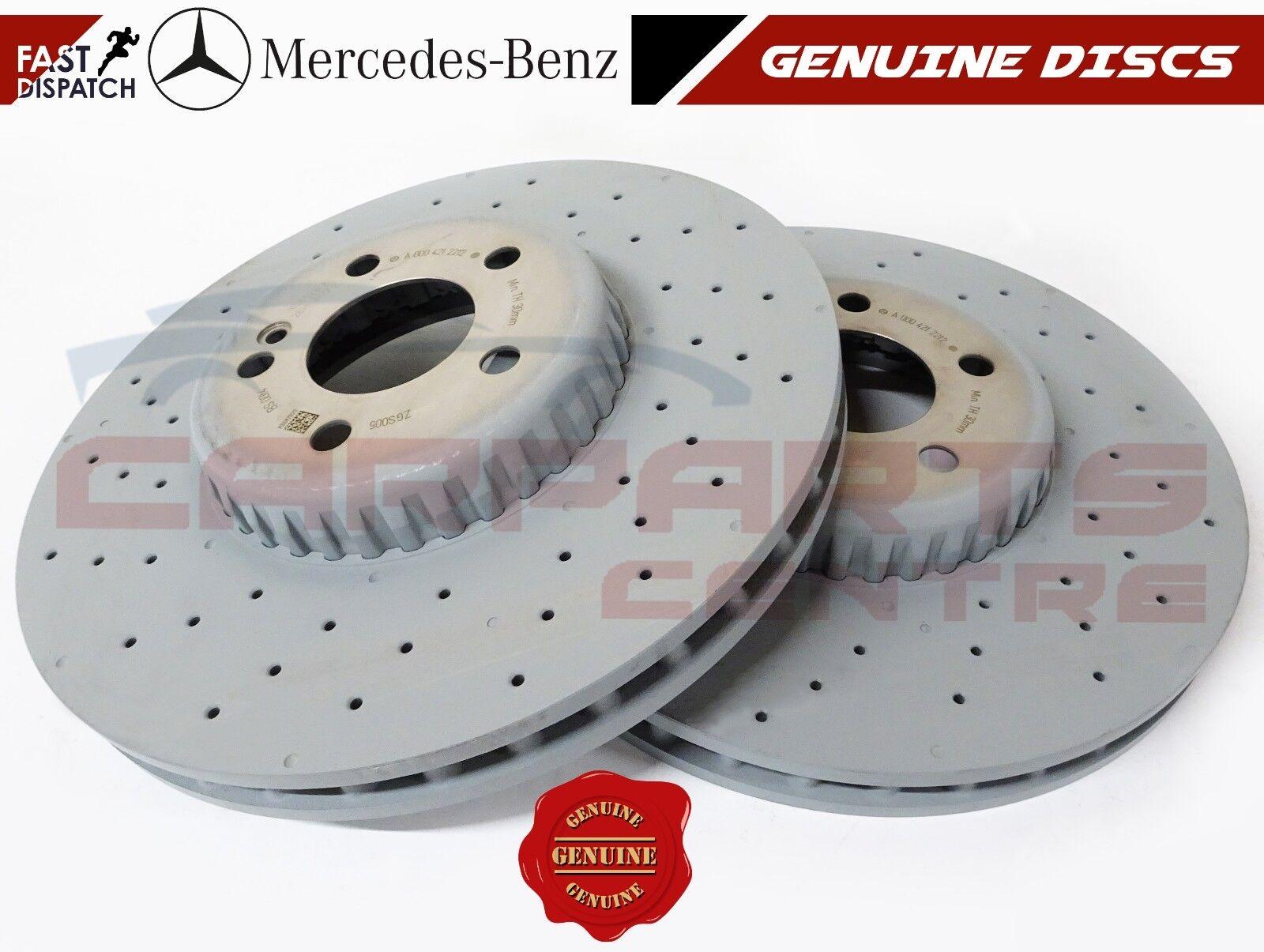 Fits Mercedes C-Class W205 C 220 BlueTEC Front Vented Brake Discs /& Pad Kit