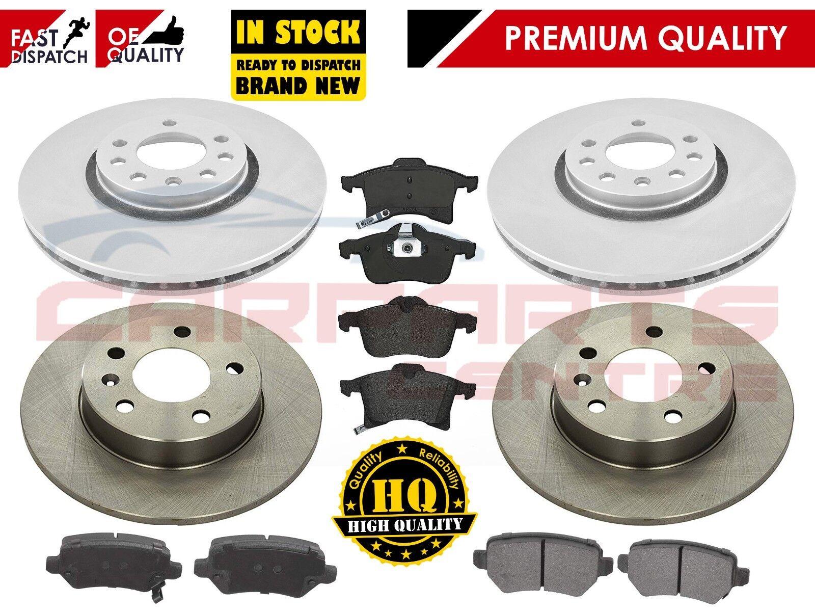 Brake Discs 264mm Solid Vauxhall Zafira 2.2 16V 2.2 D 1.7 CDTI Rear Brake Pads