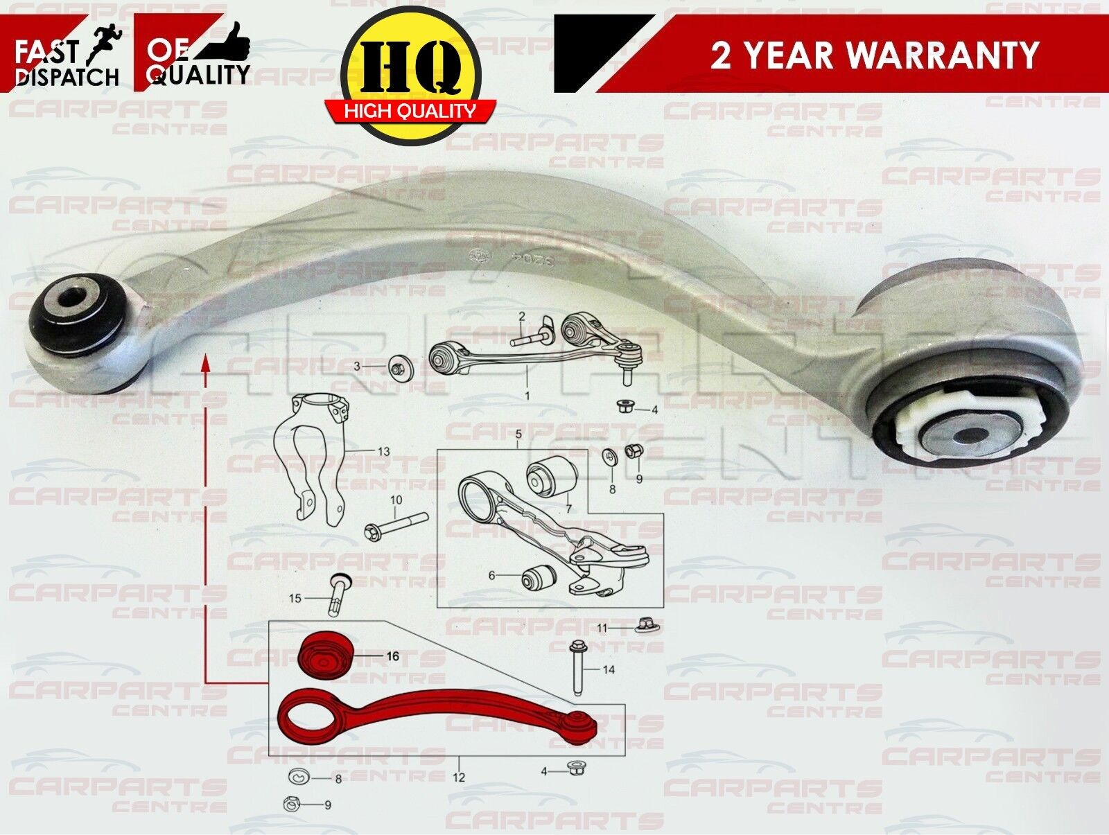JAGUAR S TYPE X200 4.0 Wishbone Suspension Arm Front Lower Left or Right New