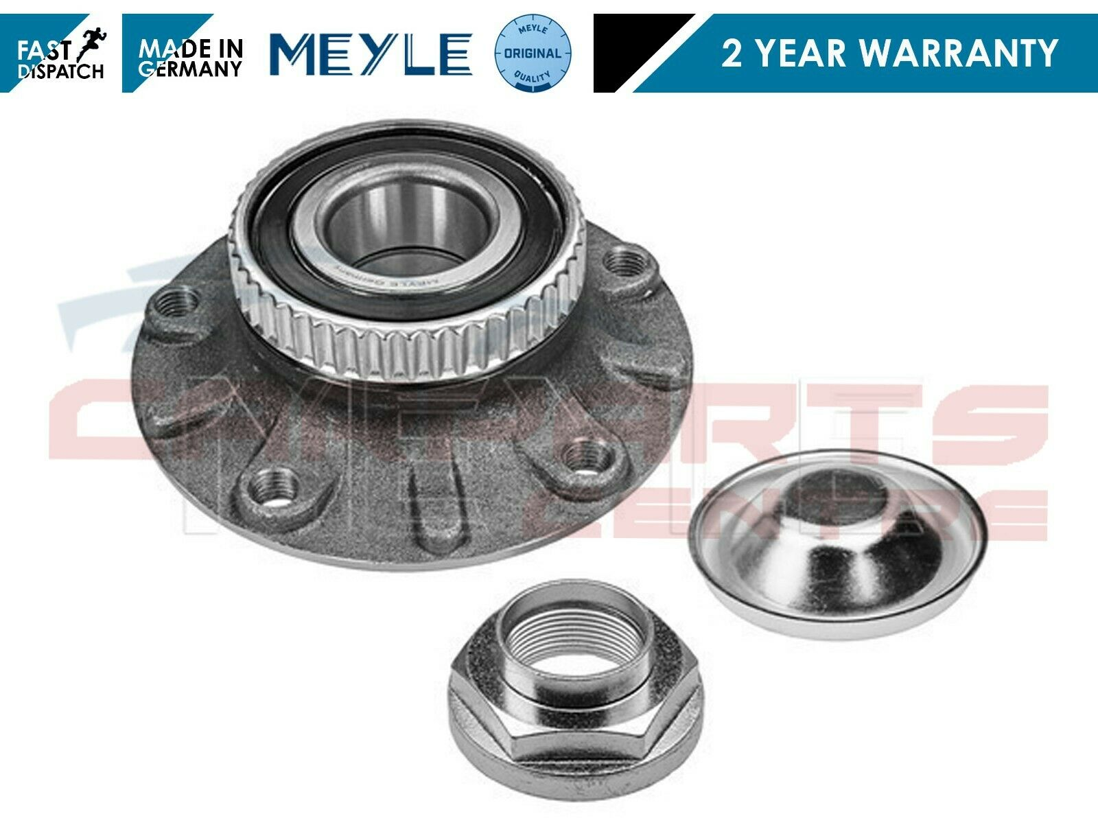 FOR BMW 3 SERIES SALOON TOURING COUPE E46 REAR WHEEL BEARING KIT MEYLE GERMANY