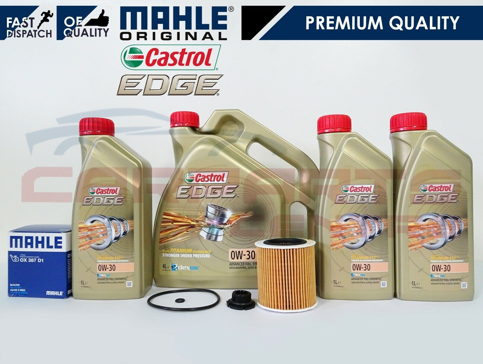 FOR BMW 3 SERIES F30 F80 M3 3.0 GENUINE MAHLE OIL FILTER ...