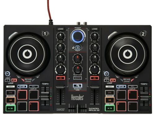 Hercules DJControl Inpulse 200 - DJ Controller w/ Intelligent Music Assistant