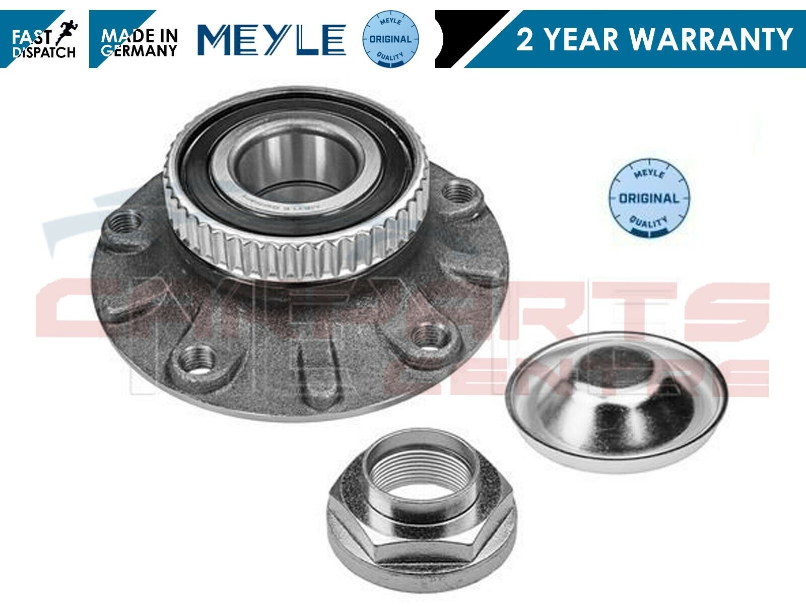 1998 For Volvo S70 Front Wheel Bearing and Hub Assembly x 2