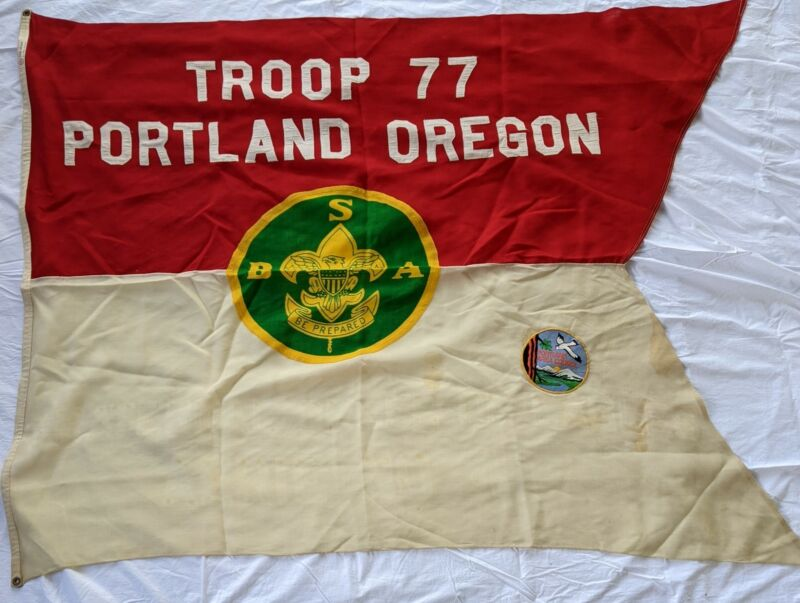 1930s Troop 77 Portland Oregon OR. Swallowtail Flag Boy Scouts of America BSA