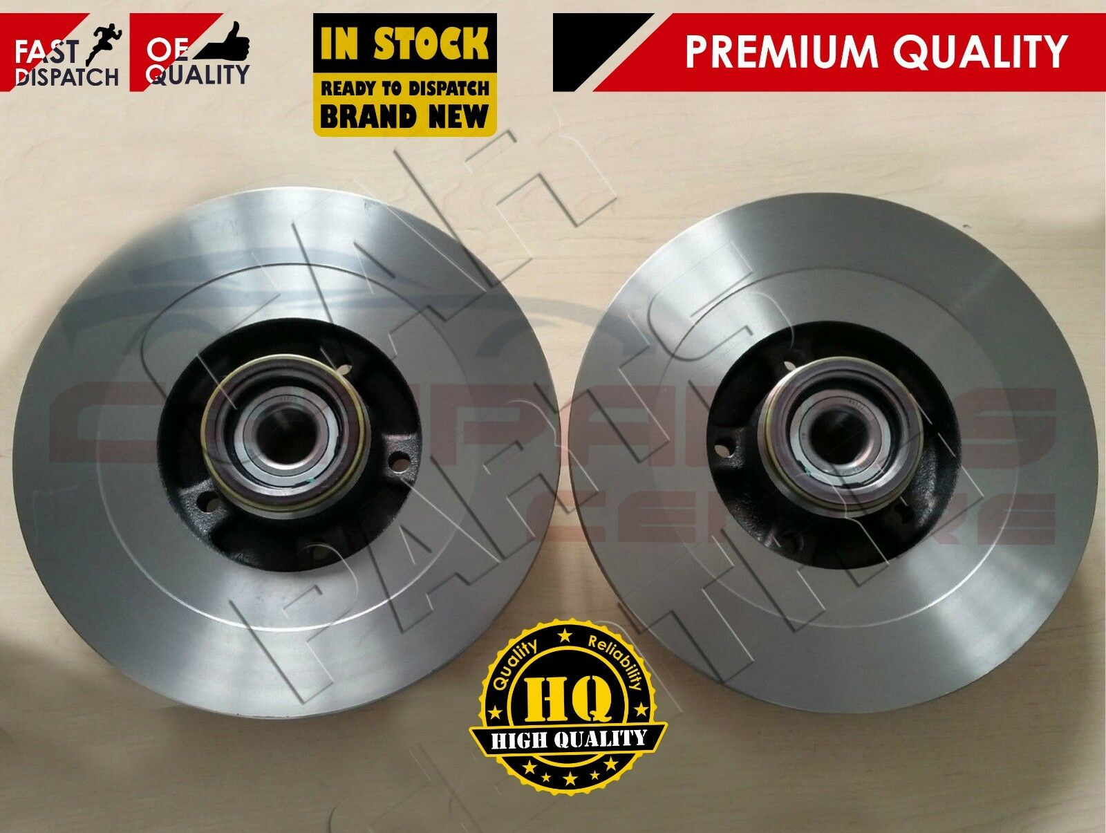 FOR RENAULT CLIO 197 SPORT 2.0 16V 2006-2009 PREMIUM REAR BRAKE DISCS 300mm