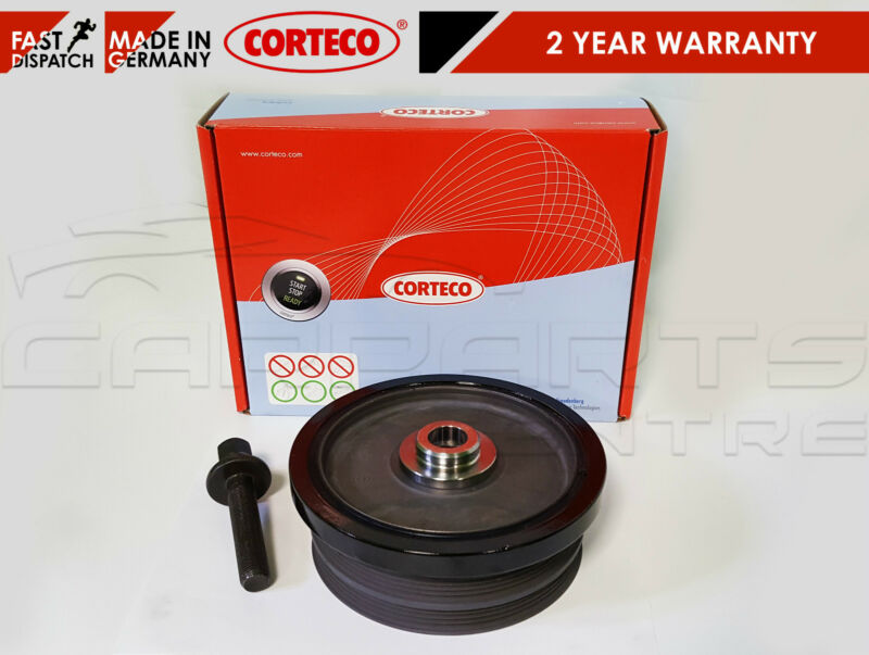 BMW 118D 318D 320D 520D CRANKSHAFT CRANK PULLEY OEM CORTECO + BOLT KIT 2.0D M47