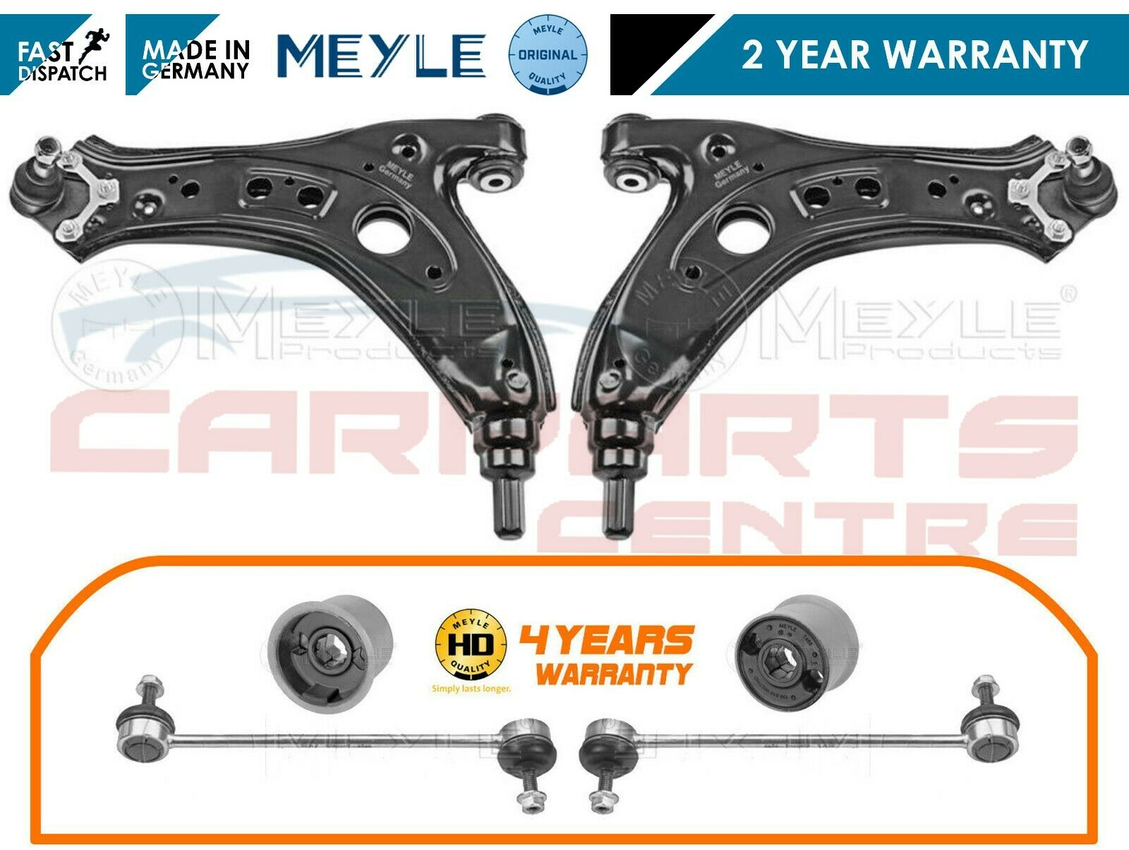 SKODA ROOMSTER 06--TWO FRONT LOWER WISHBONE ARMS BUSHES 2 ANTI ROLL BAR LINKS