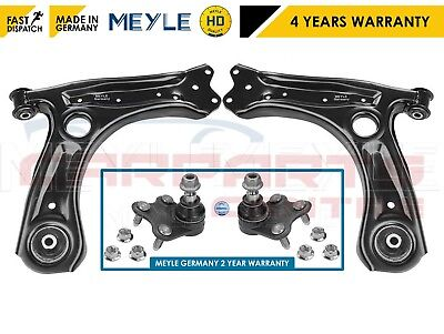FOR AUDI SEAT SKODA VW FRONT LOWER SUSPENSION ARM ARMS BALL JOINTS SET MEYLE HD