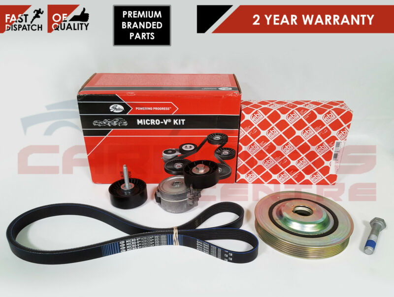 FORD MONDEO MK4 2.0 TDCI DIESEL DRIVE FAN BELT CRANK SHAFT PULLEY TENSIONER KIT