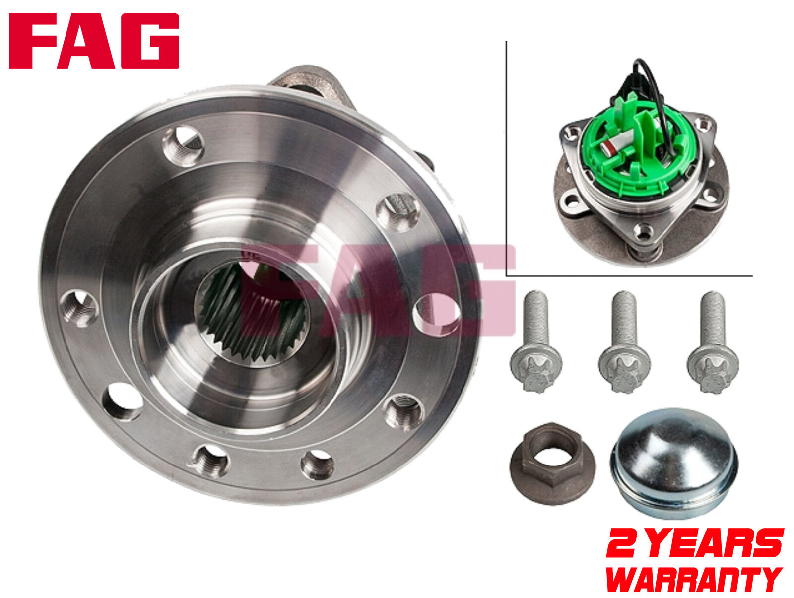 VAUXHALL ASTRA 1.9 CDTI 150BHP FRONT 2 HUB WHEEL BEARING KIT WITH ABS 5 STUD