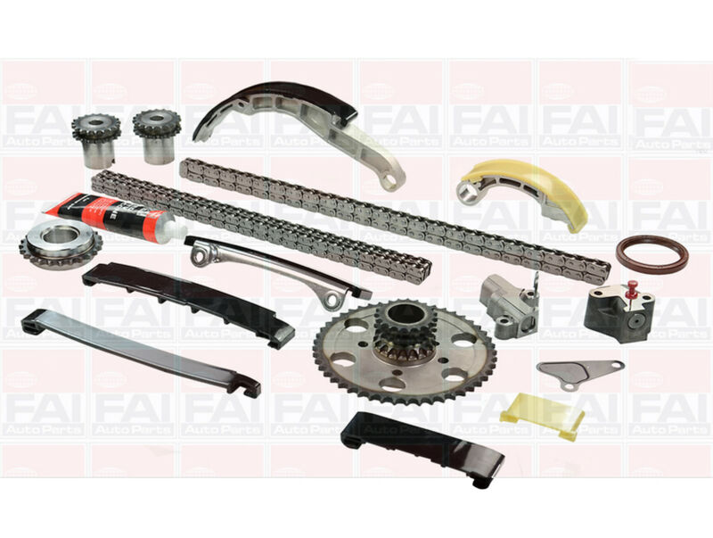 FOR NISSAN NAVARA D40 2.5TD 2.5 DCi 06-12 COMPLETE TIMING CHAIN KIT TENSIONER