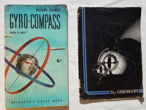 Vintage WWII Manuals SPERRY GYRO COMPASS Mark 14 Brass Naval Ships Repeater