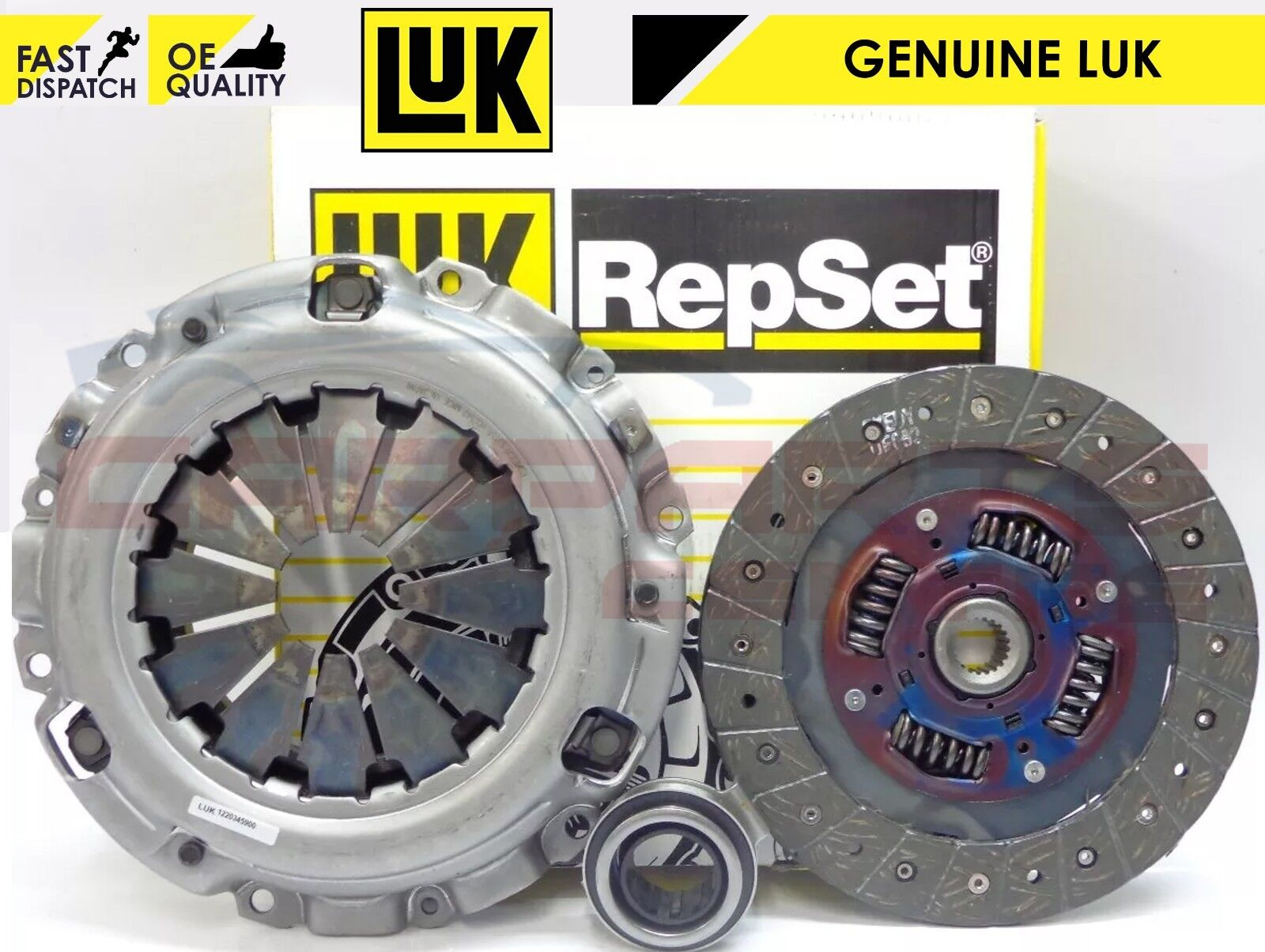 Clutch Kit 3pc fits HONDA CIVIC Mk8 1.8 2005 on LuK New Cover+Plate+Releaser