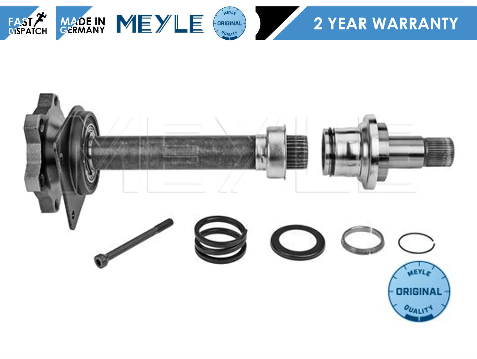 1x Drive shaft front right Shaft Flange MEYLE