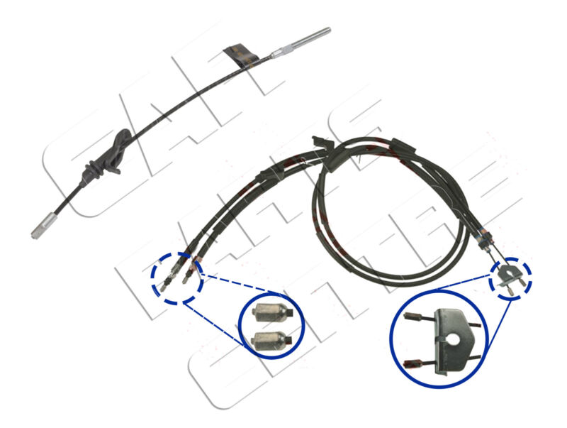 FOR FORD KUGA 2.0 D 2.5 4X2 4X4 08-13 FRONT & REAR HANDBRAKE HAND BRAKE CABLES