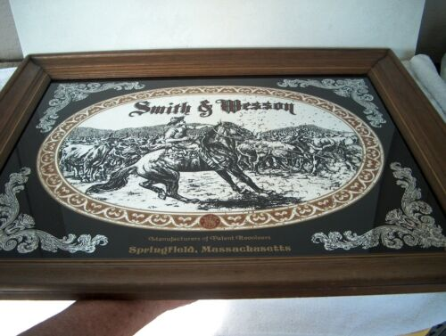 """VINTAGE SMITH AND WESSON MIRROR 28 3/4"""" X 23 1/2"""""""