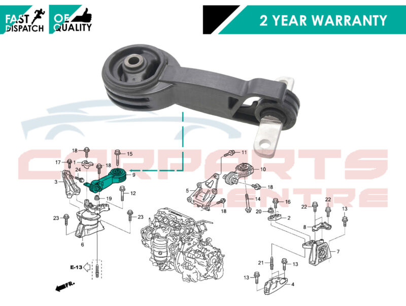 FOR HONDA CIVIC FD FA 2.0 2.0i VTEC TYPE R 07-10 FRONT ENGINE MOUNTING MOUNT NEW