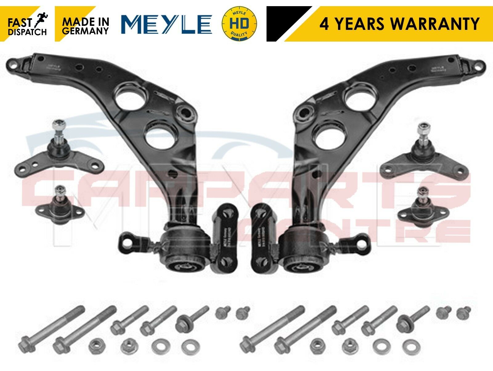 2 x Suspension Arm Ball Joint Bearing Front Axle Left Right