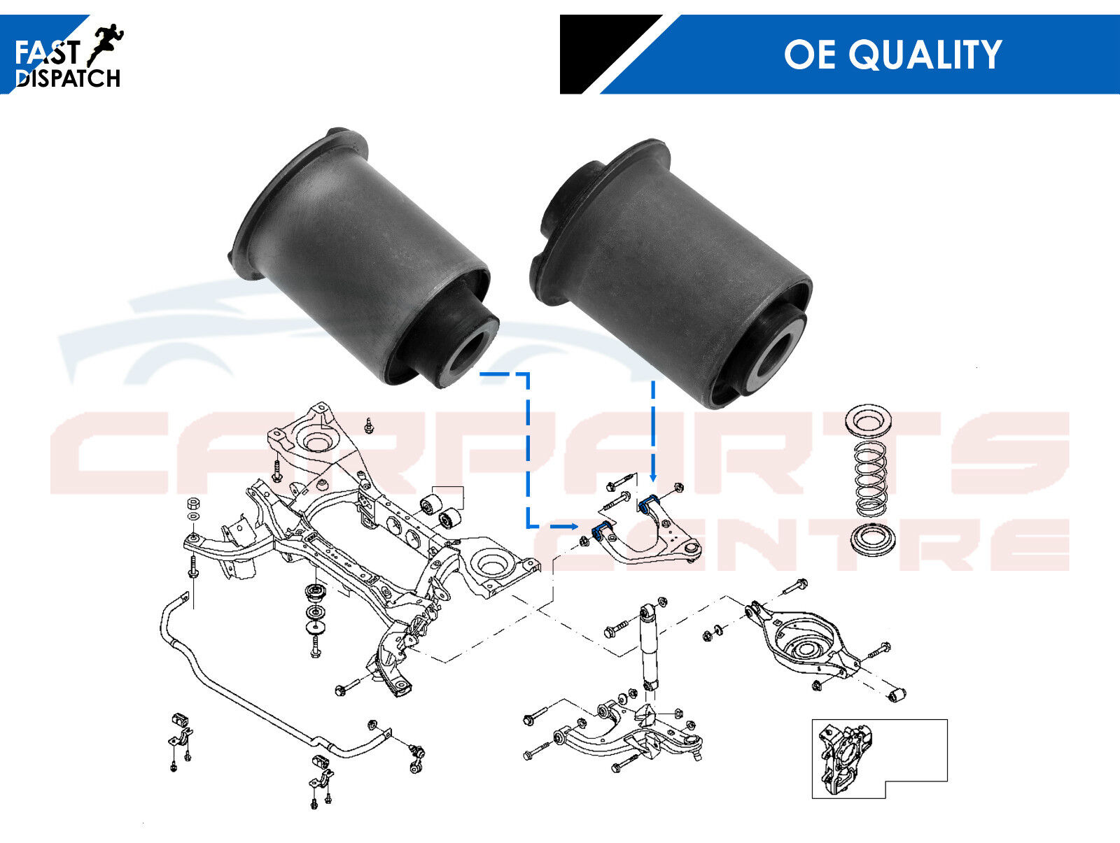 Rear Ball Joint Wishbone Control Arm Bushes Bushings for Nissan Pathfinder R51