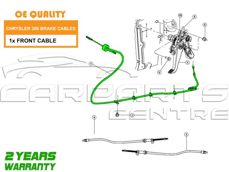 FOR CHRYSLER 300C 3.0 DT V6 05-08 NEW FRONT PARKING HANDBRAKE HAND BRAKE CABLE