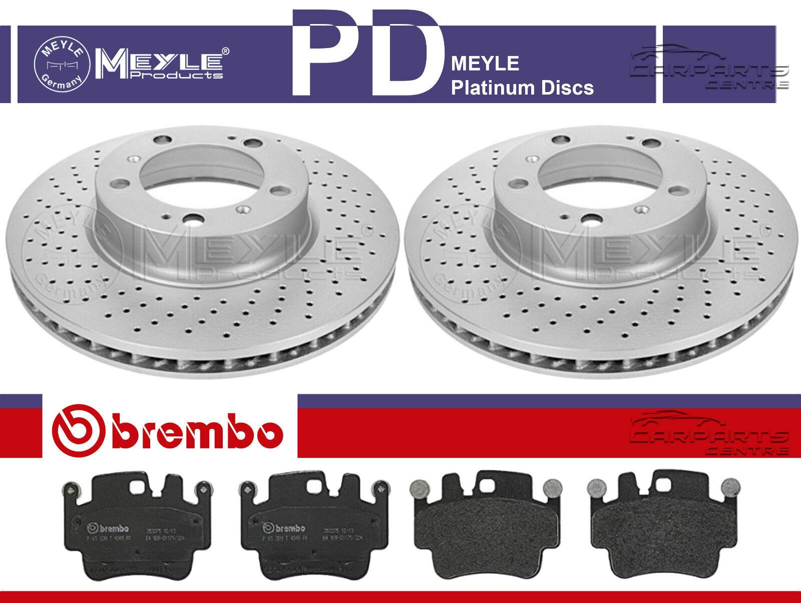 FOR PORSCHE BOXSTER CAYMAN REAR GENUINE CROSS DRILLED BREMBO BRAKE DISCS 299mm