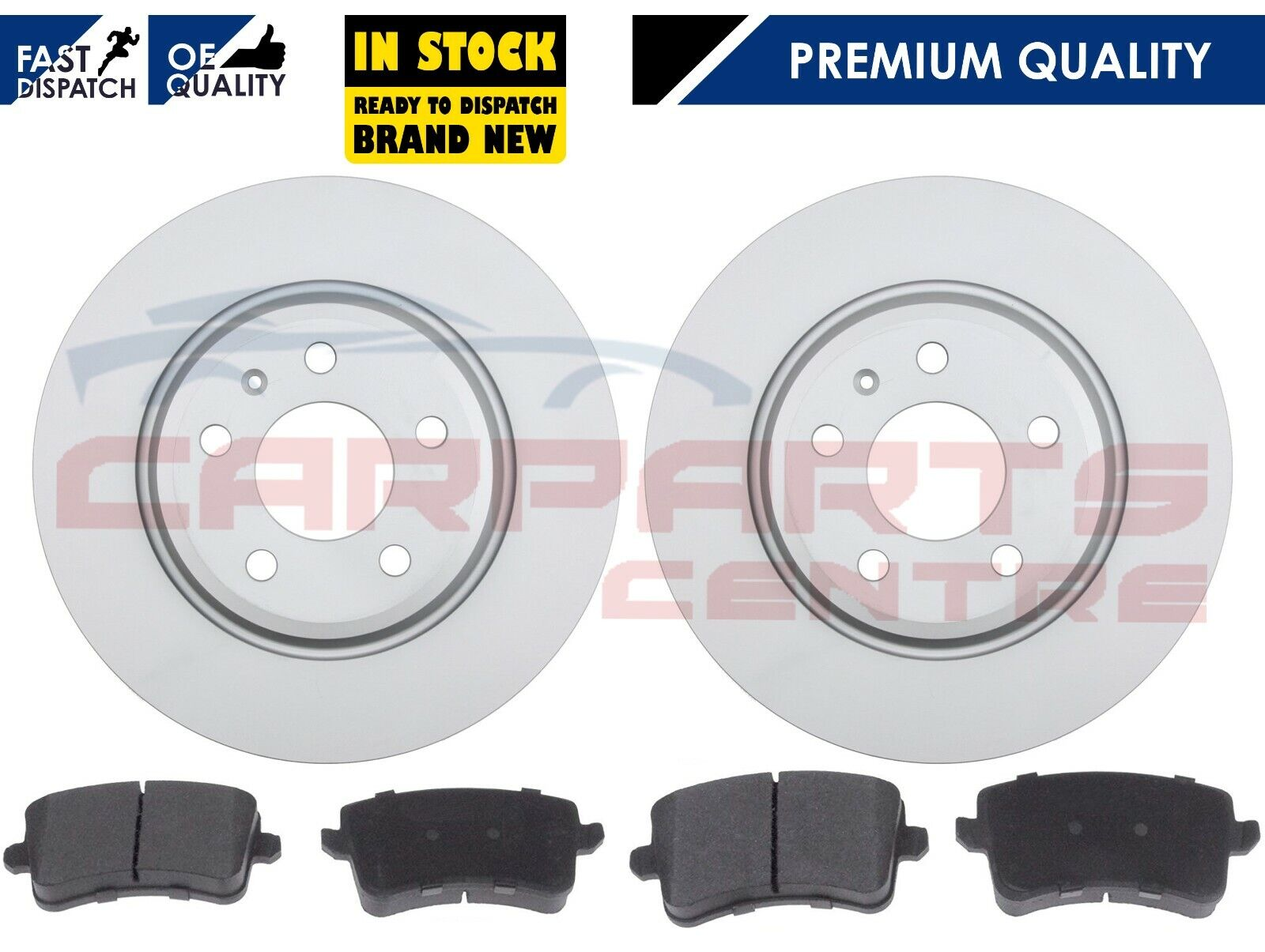 Fiesta mk3 1.4 Solid Front Drilled Grooved Brake Discs