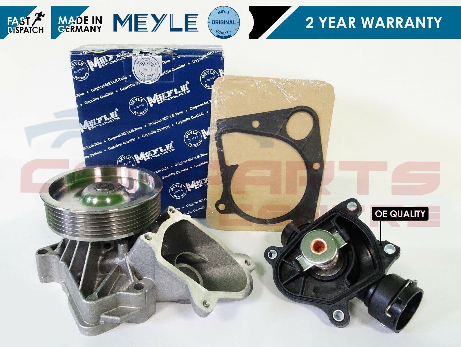 For Bmw E46 320d 320 20 D Meyle Engine Coolant Water Pump Light Thermostat Housing