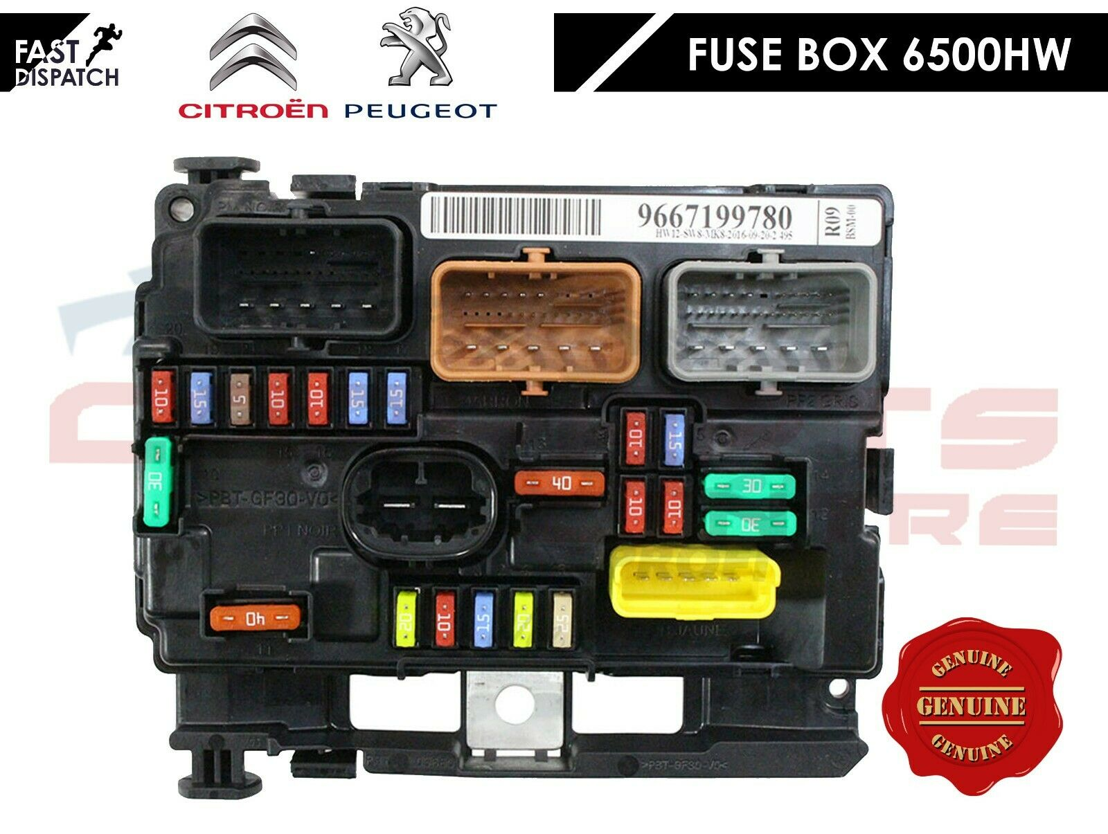 FITS PEUGEOT 207 CITROEN C3 PICASSO ELECTRONIC CONTROL ENGINE FUSE BOX  6500HW | eBay | Citroen Picasso Engine Fuse Box |  | eBay