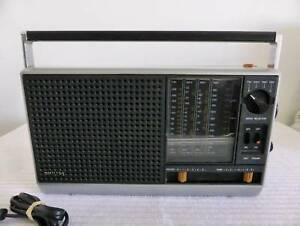 General Electric GE 6 Band Transistor Radio 72959A AMFM PS PSAIR