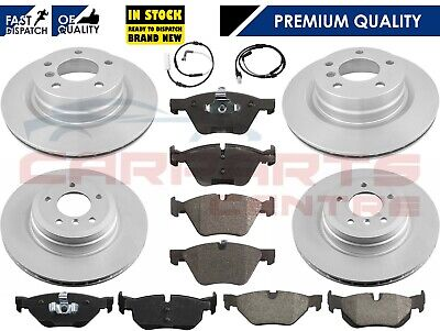 FOR BMW 1 E81 E87 3 E90 E91 E92 E93 FRONT & REAR BRAKE DISCS AND PADS SENSORS