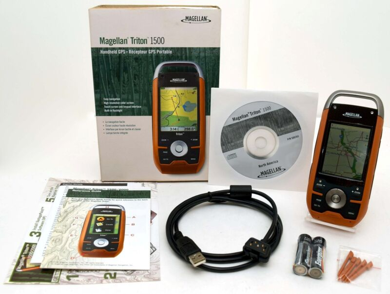 NEW Magellan Triton 1500 Hiking GPS Set 3D TOPO Map geocache hunting waterproof