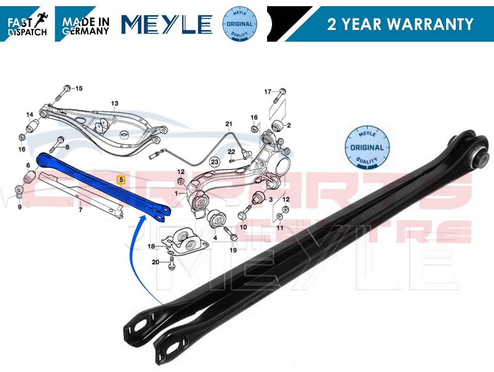 FOR BMW 3 SERIES E46 E36 REAR AXLE LOWER SUSPENSION WISHBONE ARM ALL MODELS