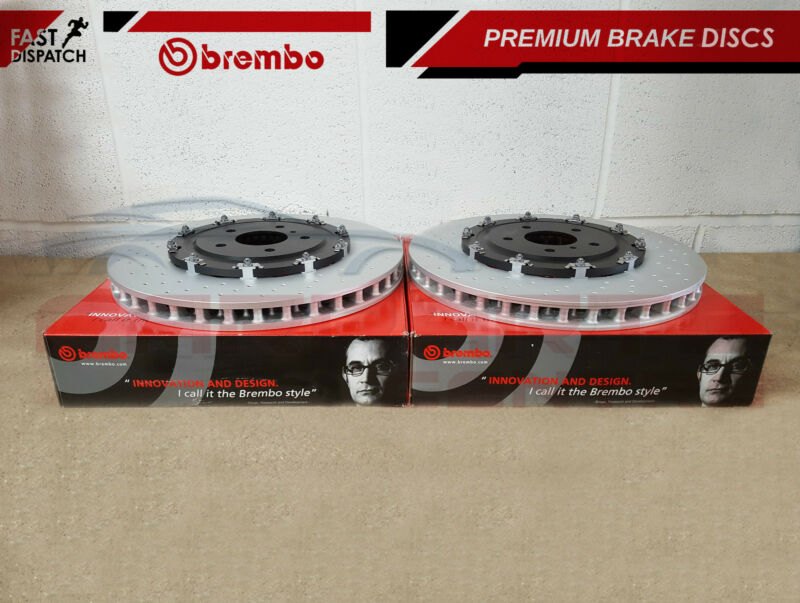 FOR VAUXHALL INSIGNIA 2.8 VXR FRONT 2 PIECE GENUINE BREMBO BRAKE DISCS SET 355mm