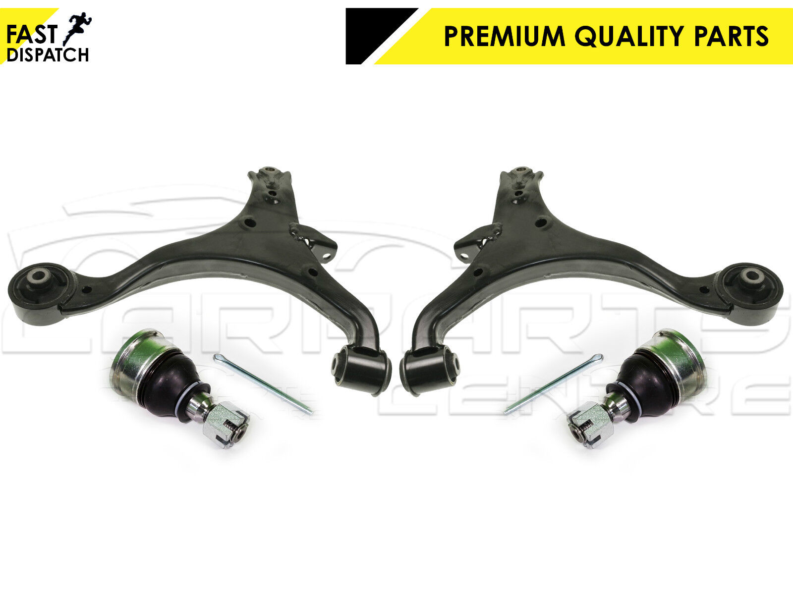 FOR CIVIC EU EP 01-06 FRONT LOWER CONTROL ARMS BALL JOINTS HD ANTI ROLL BAR LINK