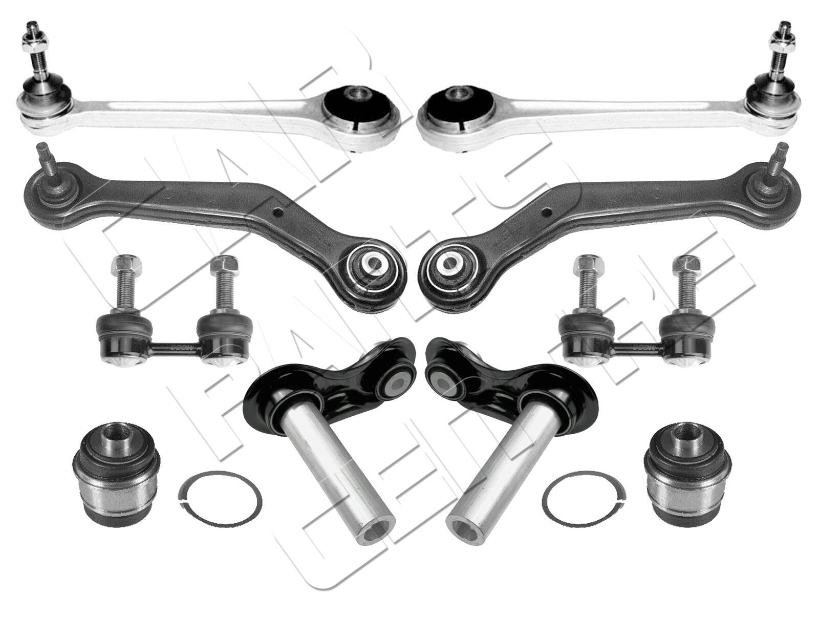 for bmw x5 e53 rear suspension arm kit real links trailing arm rear bushes new
