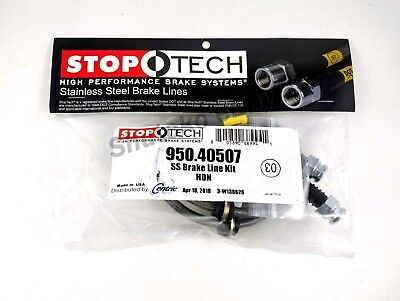 STOPTECH STAINLESS STEEL REAR BRAKE LINES FOR 97 01 HONDA PRELUDE ALL MODELS