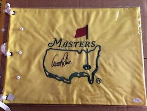 AUTOGRAPH GOLF FLAGS MAJOR CHAMPIONSHIP EVENTS WITH COA