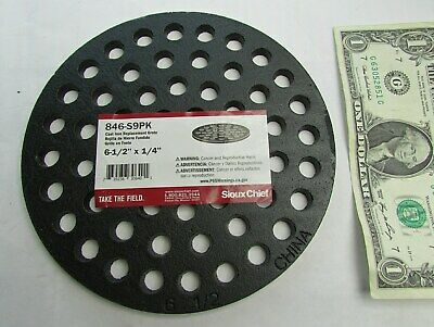 Sioux Chief 6.5 Black Epoxy Coated Round Cast Iron Floor Drain Strainers Grates
