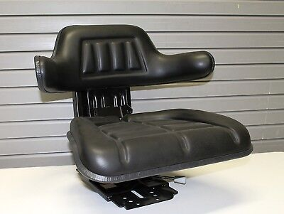 Tractor Seat Black Waffle Farm Tractors Universal Fit Spring Suspension
