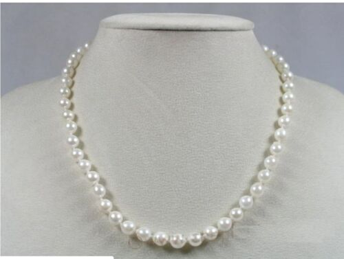 """Baroque Akoya Saltwater Cultured Pearl Necklace 20"""" with Sterling Silver Clasp"""