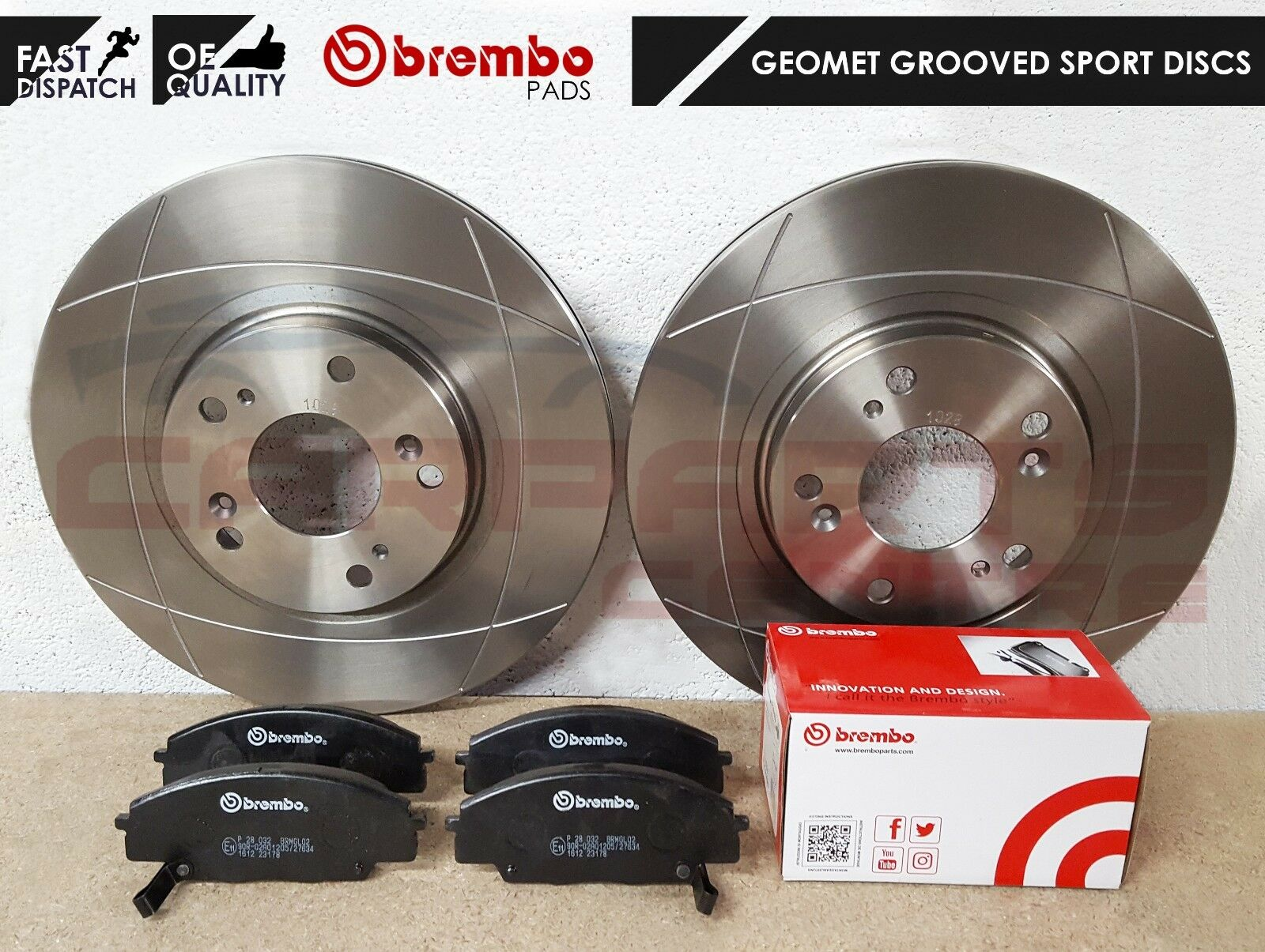 for HONDA CIVIC TYPE-R EP3 2001-2005 FRONT AND REAR BRAKE DISC PADS NEW FULL SET