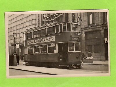 No 58 Tram Blackwall Tunnel via Catford London old pc sized photo Ref E188