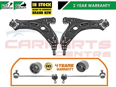FOR POLO FABIA IBIZA FRONT LOWER BOTTOM WISHBONE ARM ARMS REAR BUSHES + HD LINKS
