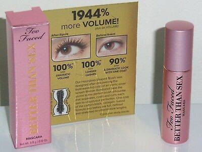 Too Faced Better Than Sex Mascara - 0.13oz Deluxe Sample Size / BRAND NEW (Best Eye Mascara Brand)