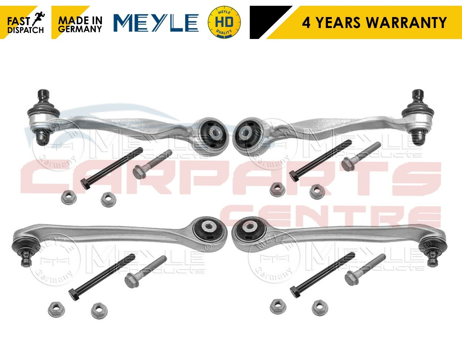 AUDI A4 A6  PASSAT FRONT SUSPENSION UPPER FRONT /& REAR  ARMS X 2