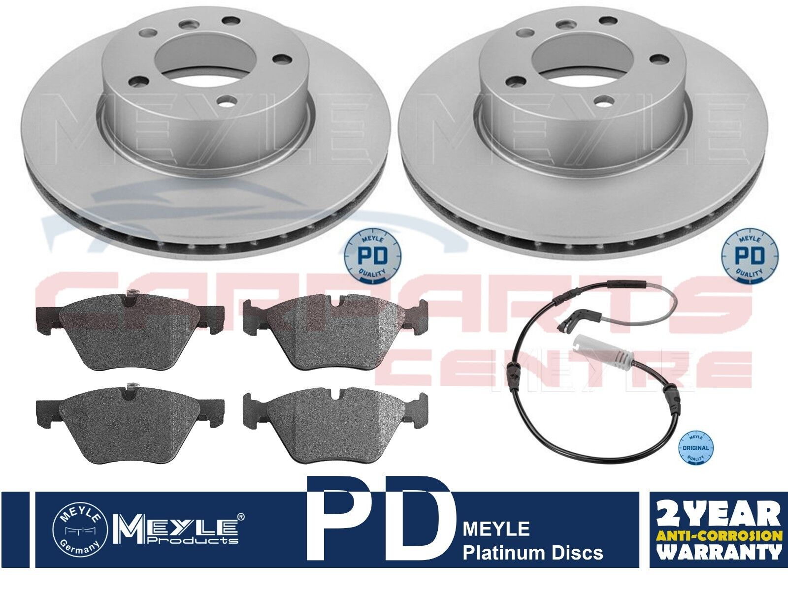 Fits BMW 3 Series E90 320d Borg /& Beck Front Brake Pad Accessory Fitting Kit