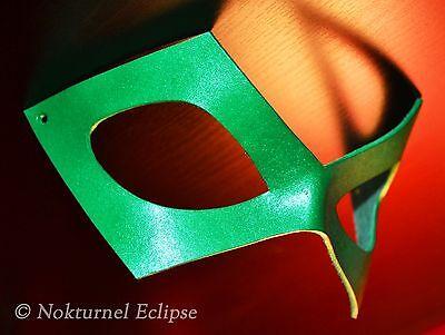 Green Cosplay Leather Mask Masquerade Halloween Riddler Batman Superhero UNISEX  - Green Superhero Mask