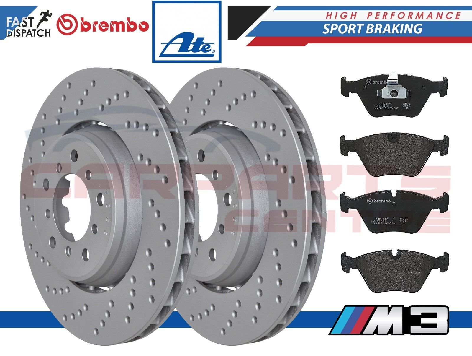 BMW 330i 330D 330Ci CONVERTIBLE BRAKE PADS WITH SENSOR FRONT REAR MEYLE GERMANY