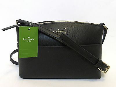 Kate Spade Millie Grove Street Leather Xbody Shoulder Bag BLACK Shoulder Bag NWT