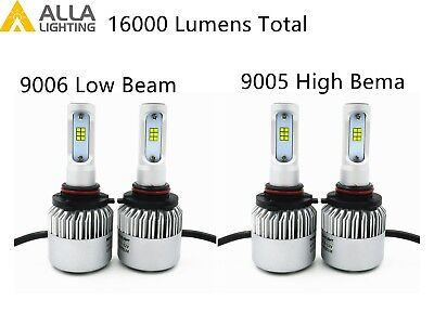 Alla Lighting LED High Low Beam Headlight Replacement bulbs Conversion Kit,White